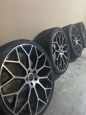 22in rims and tires for Sale in Corpus Christi, TX