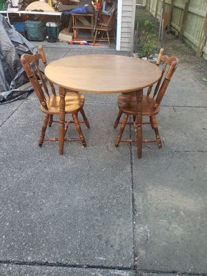 Wood Country Style Kitchen Table & 2 Chairs for Sale in North Tonawanda, NY