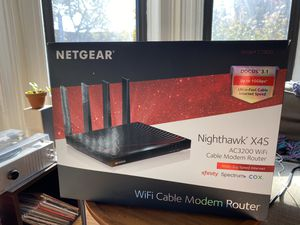 Netgear Nighthawk X4S: AC3200 WiFi Cable Modem/Router Combo for Sale in Brooklyn, NY