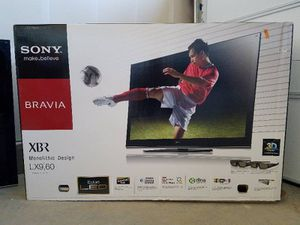"""Sony XBR60LX900 60"""" 3D 240Hz LED HDTV with Movies for Sale in Aurora, CO"""