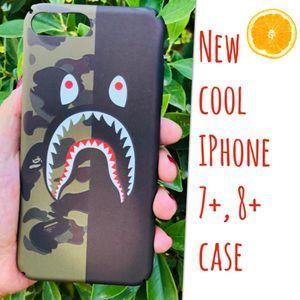 New cool iphone 7+ or iphone 8+ PLUS case slim fit plastic sleeve case bape aape camo hypebeast hype swag men's guys for Sale in San Bernardino, CA