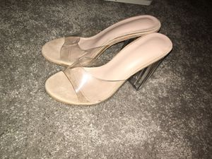 Clear chunky heel for Sale in Bristow, VA