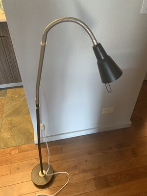 Ikea Tall Floor Lamp with an adjustable neck for Sale in Denver, CO