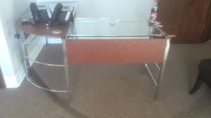 Desk Glass/Wood for Sale in Brentwood, TN