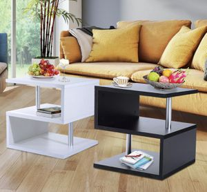 2 Tier Side End Coffee Table Storage Shelves Sofa Couch Living Room Furniture for Sale in Miami, FL