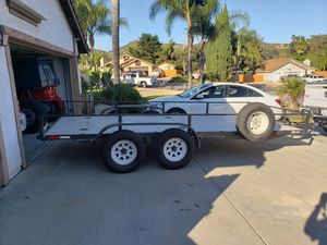 16' long 7' wide car/ off-road trailer 7,000 LB. Capacity I have breaks on all 4 tires, and lot's of tie down locations. for Sale in Poway, CA