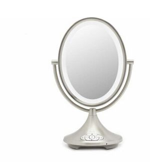 "iHome All-in-One, 7X Magnify, 9"" 2-Sided LED Makeup Mirror, Bright LED Light Up Mirror, Natural Light, Double-Sided Vanity Mirror, Hands-Free Bluetoo for Sale in Fontana, CA"