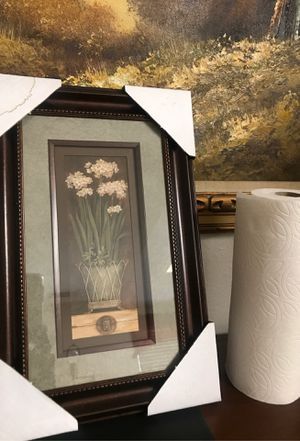 Flower with pot picture framed for Sale in San Diego, CA