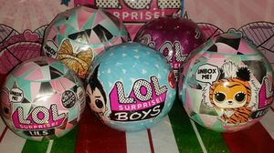 🌟LOL Surprise🌟LOT of 5🌟Winter Disco (3), Boy Series (1) & Sparkle Series (1) for Sale in Edgewood, WA