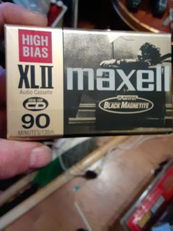1 Audio Cassette Blank Unopened Wrapped Up Like Brand New 90 Minutes Naxcel High Bias XL2 Audio Cassette for Sale in North Las Vegas,  NV