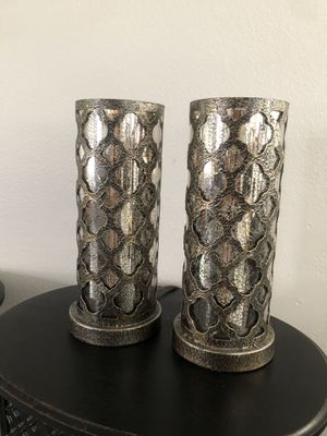 2 lamps metal/glass for Sale in Fontana, CA