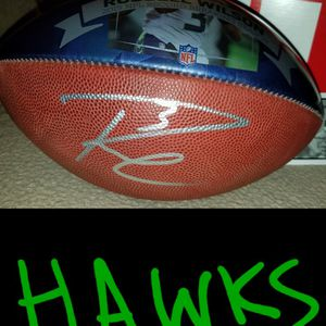 Seahawks Russell Wilson AUTOGRAPHED COA Special Issue Football & DOZENS more items here for Sale in Kirkland, WA