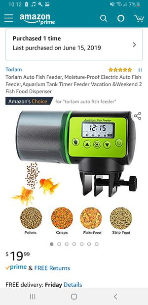 Auto fish feeder for Sale in Arlington, VA