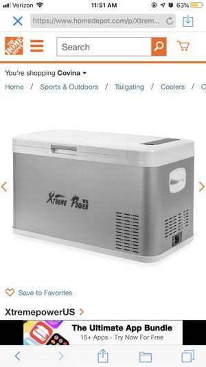 Xtreme power portable mini fridge cooler for travel with Bluetooth for Sale in Irwindale, CA