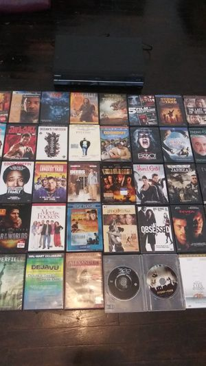 Toshiba DVD, CD, VHS, Player, with 45 DVD's Included for Sale in Philadelphia, PA