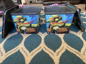 All purpose Ninja Turtle bins for Sale in Fremont, CA