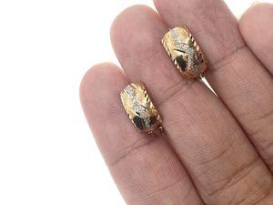 18kt Gold Tricolor Italian Hoop Earrings for Sale in Los Angeles, CA