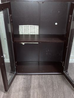 Small Wooden Shelf With Glass Window for Sale in Hayward,  CA