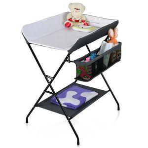 Baby Storage Folding Diaper Changing Table-Gray for Sale in La Habra Heights, CA