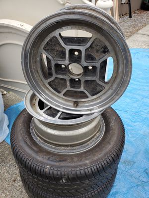 Stock Fiat rims & 2 mounted tires for Sale in Puyallup, WA