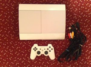 White PS3 Super Slim 500GB for Sale in Germantown, MD