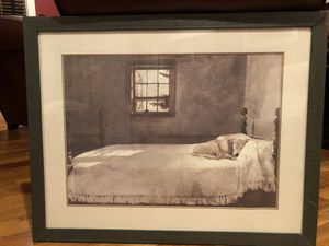 Lab on bed frames and matted print. for Sale in Crofton, MD