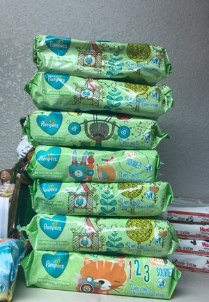 Pampers Unscented wipes 72 count 7 packs total for Sale in Turlock, CA