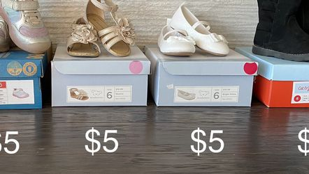 Size 6 toddler shoe lot, Stride Rite sneakers, Koala Kids sandals & dress shoes, Cat & Jack boots for Sale in San Ramon,  CA