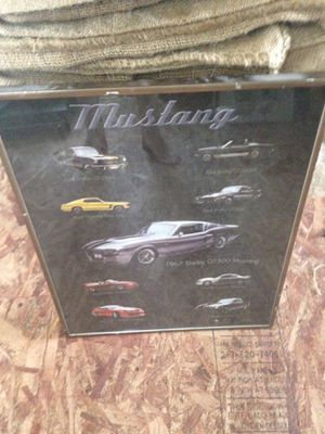 Framed mustang poster for Sale in Silver Spring, MD