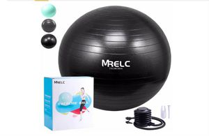 MRELC Exercise Ball Yoga Ball Fitness Ball Birthing Ball (75cm), Slip Resistant Stability Balance Ball for Fitness,Pilates & Yoga with Quick Pump for Sale in Rancho Cucamonga, CA