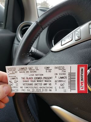 Black crows tickets for Sale in Richmond, VA