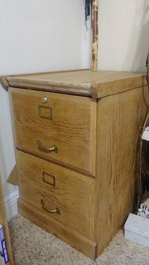 Oak wood filing cabinet legal-size for Sale in Port St. Lucie, FL