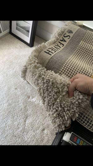 White rug from overstock for Sale in Washington, DC