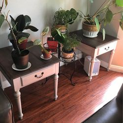 Vintage Ethan Allen Refinished Side Tables. Set Of Two for Sale in Santa Fe Springs,  CA