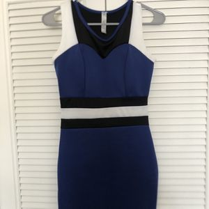 Blue Black And White Fitted Formal Dress for Sale in Wheaton, IL