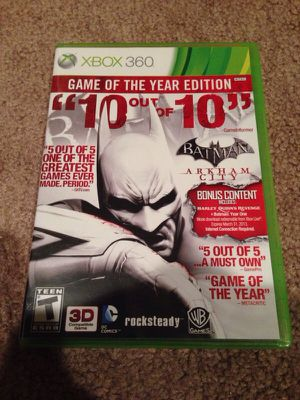 Batman Arkham City Game of the Year Edition GOTY Xbox 360 (Only Played Once) for Sale in Seattle, WA