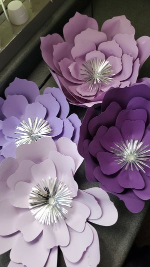 Purple paper flowers for Sale in Alhambra, CA