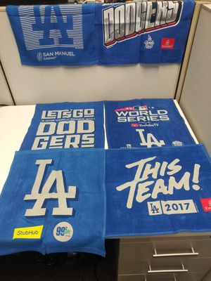 Los Angeles Dodgers Official SGA (6) Rally Towels from 2017-2019 All New and Unused !!! for Sale in El Monte, CA