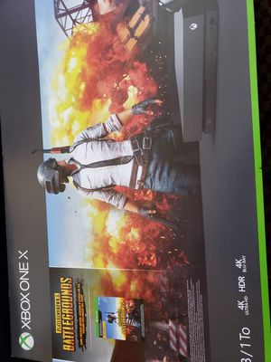Xbox One X pubg bundle for Sale in San Francisco, CA