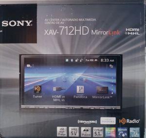 Sony Car Stereo. Model XAV-712HD. for Sale in Corona, CA