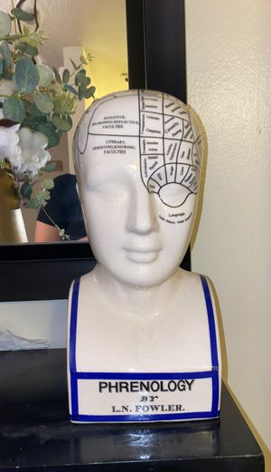 Phrenology Ceramic Decorative Large Piggy Bank for Sale in Los Angeles, CA