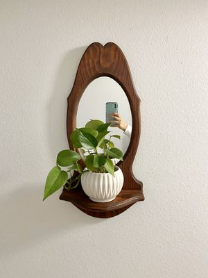 Wood Mirror with Shelf for Sale in Portland, OR