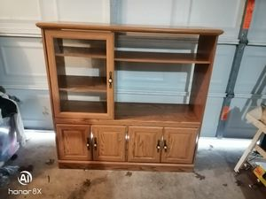 Solid Wood Entertainment Center for Sale in Spring, TX