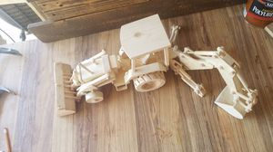 Hand crafted wooden toy Backhoe tractor for Sale in Gilbert, AZ
