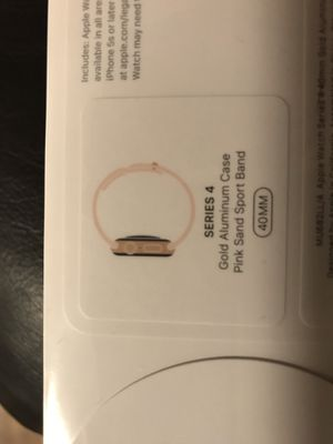 Brand new Apple Watch 4 series gold case pink band 40mm GPS for Sale in Arlington, VA