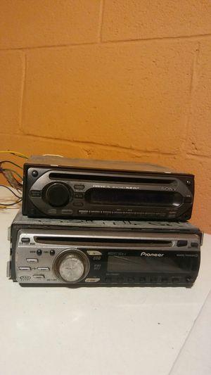 (2) car audio head unit radio w/ aux for Sale in Columbus, OH
