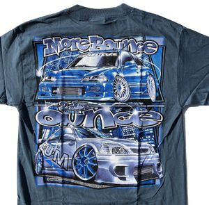 90s Deadstock ZUM DYKOM Racing Car Drifting Graphic Tee Shirt Honda Civic Hatchback Blue/Gray Large for Sale in San Diego, CA