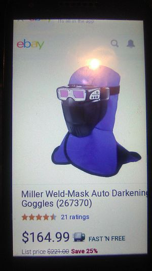 Miller Weld-Mask Auto Darkening Goggles(267370) for Sale in Henderson, KY