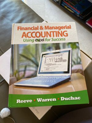 Using excel for success. Financial & managerial accounting for Sale in Miramar, FL