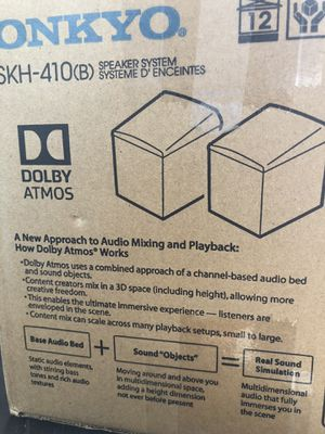 Onkyo Dolby Atmos speakers for Sale in Houston, TX